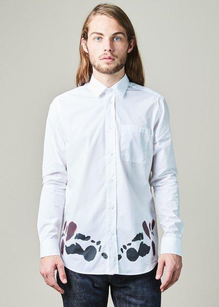 OAMC Moth Hem Print Shirt - White