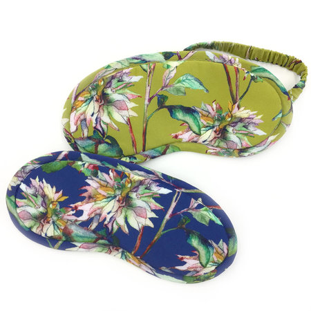 Strathcona Watercolour Chrysanthemum Eye Mask - Online Only