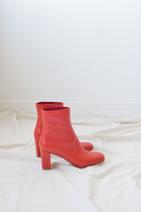 MNZ Agnes Boot - Red Faux Lizard