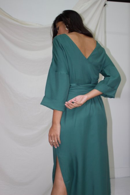 Ajaie Alaie Monologue Dress - Eucalyptus
