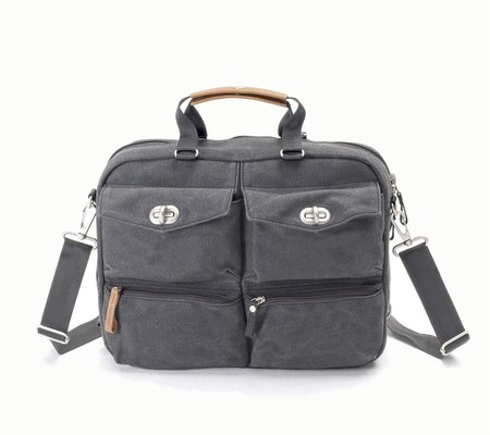 Qwstion Organiser Briefcase - Washed Grey