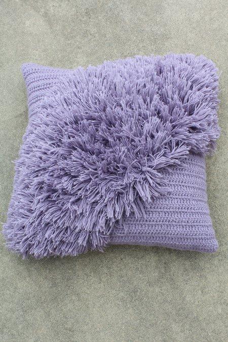 Artist Alpaca Handmade Alta Fringe Pillow Lilac