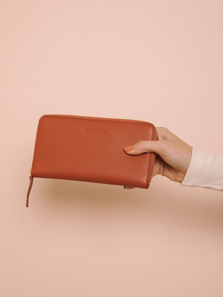 The Stowe Zip Wallet - Paprika