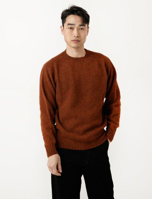 Neighbour Mens Shetland Sweater - Rust