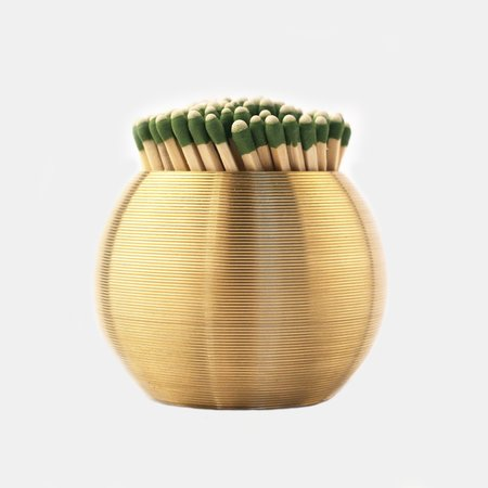 JFM Los Angeles Brass Sphere Striped Match Scratcher