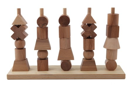 Kids Wooden Story Wooden Stacking Toy in Natural
