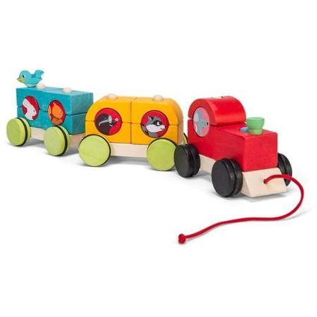Kids Le Toy Van Woodland Express Stacking Train