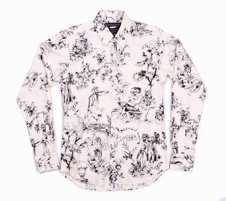 18 Waits The Dylan Long Sleeve Shirt - B&W Living Dead