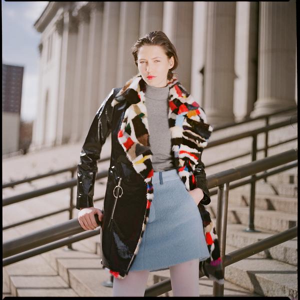 Kim Shui Multi Fur Vinyl Jacket