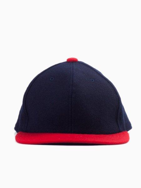 Blue Blue Japan Indigo/Plant Combination Dyed Melton Classic Baseball Cap