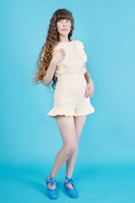 Samantha Pleet Fin Blouse - Peach