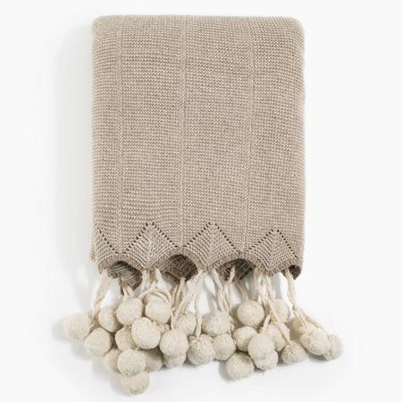 Poketo Pom Pom Wool Throw