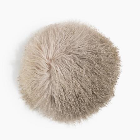 Poketo Round Lamb Fur Pillow