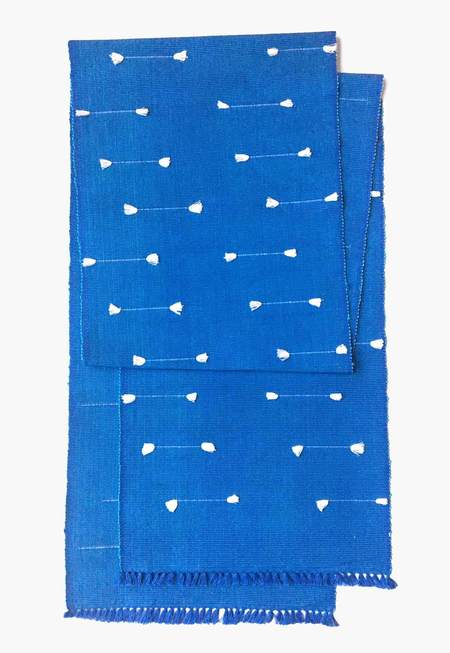 New Market Goods Lahar Table Runner - cobalt blue