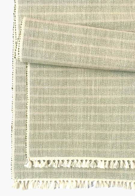 New Market Goods Sundarban Table Runner - Chambray Stripes