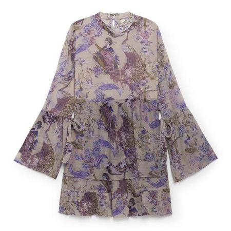 LOA Oriental Printed Dress - Purple