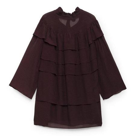 LOA Pleated Dress - Maroon
