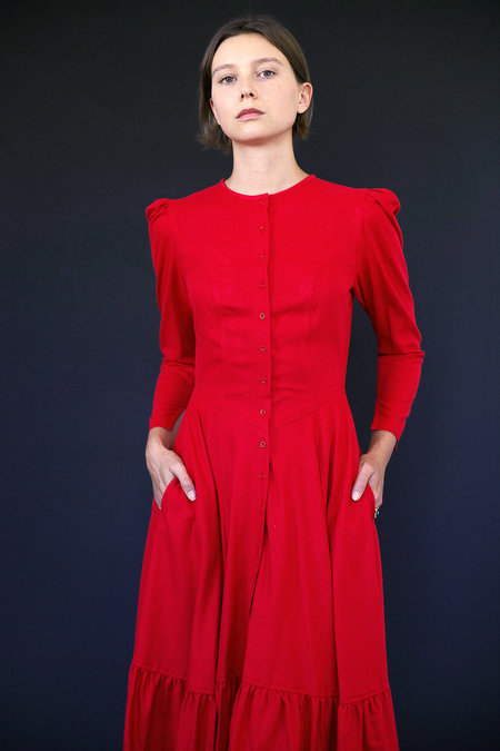 Town Clothes Rosa Dress in Red