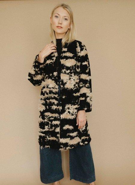 Maria Stanley Verde Sweatercoat Nude Fringe