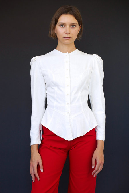Town Clothes Rosa Blouse in Cream