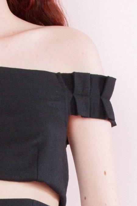 Samantha Pleet Tudor Blouse - Black + Blush