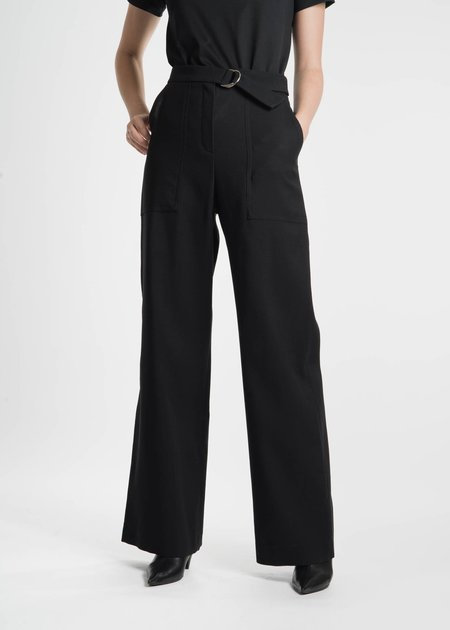 Harmony Black Phillipine Wool Trousers