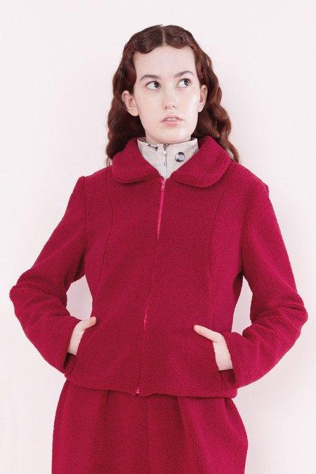 Samantha Pleet Sheep Coat - Crimson