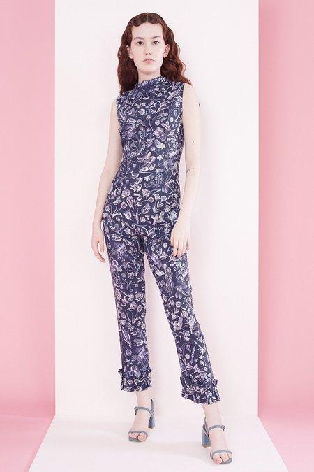 Samantha Pleet Tudor Jumpsuit - Blueprint Floral