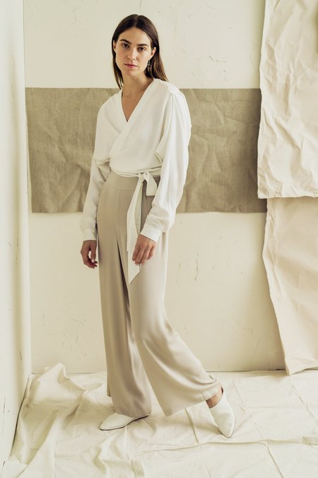 The Great Eros Anesi Wide Leg Pant in Taupe