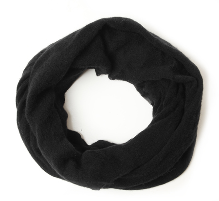 Botto Giuseppe Black Cashmere Tube Scarf