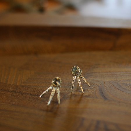 Monica Squitieri Draceana Earrings Brass