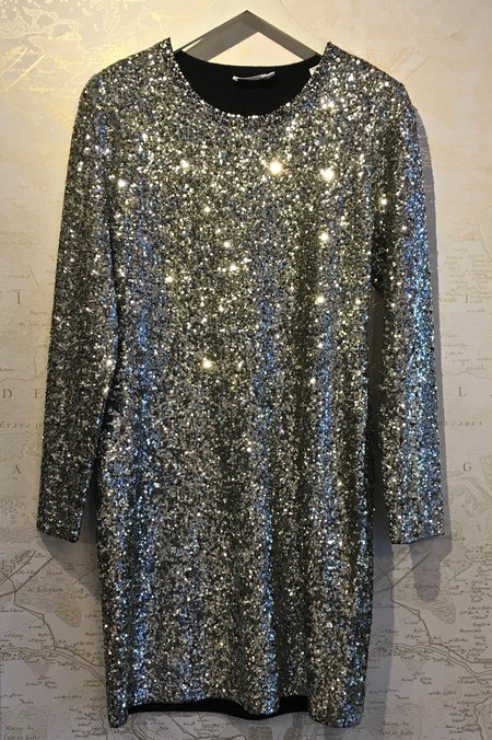 A.L.C. Aliya Sequin Long Sleeve Dress