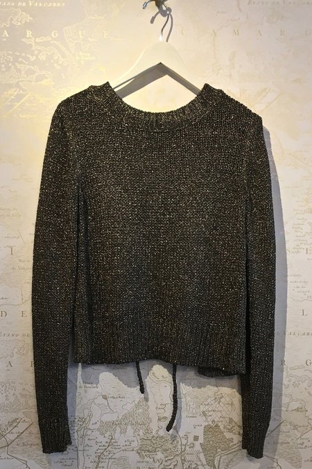 A.L.C. Marjorie Metallic Sweater with Lace Up Back