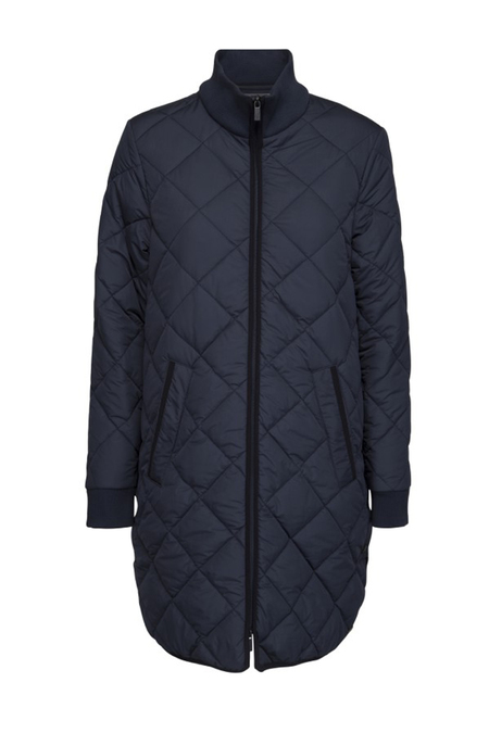Ilse Jacobsen Quilted Coat - Navy