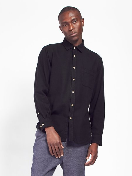 Portuguese Flannel Teca Shirt - Black