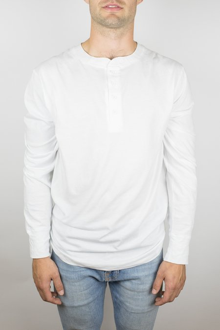 Craft of Lyfe The Ignition Long Sleeve Henley in White
