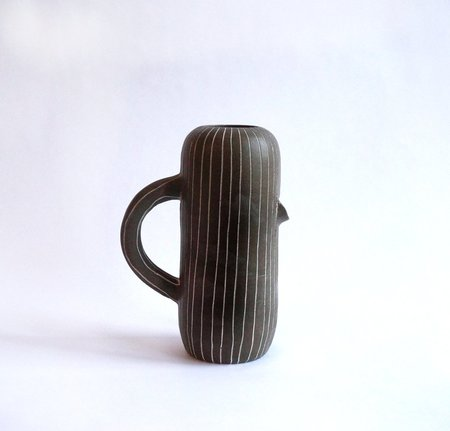 Workaday Handmade Dark Pinstripe Pitcher