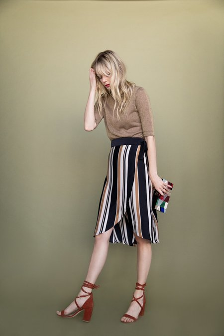 BETWEEN TEN Megan Midi Skirt