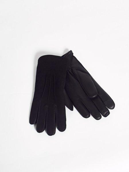 Journal Rand Pin Leather Glove - Black