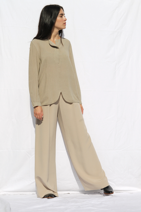 DUO NYC Vintage Escada Silk Wide Leg Trousers