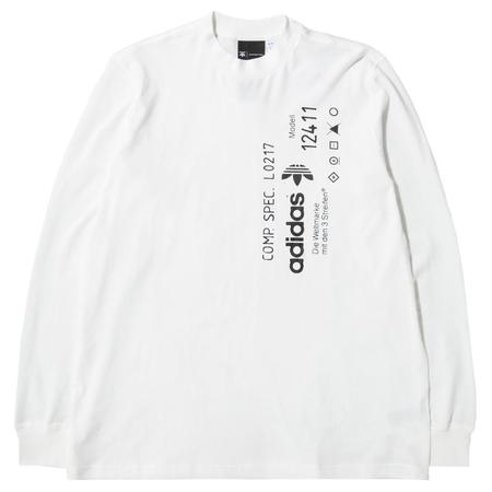 ADIDAS BY ALEXANDER WANG GRAPHIC LONG SLEEVE T-SHIRT - CORE WHITE