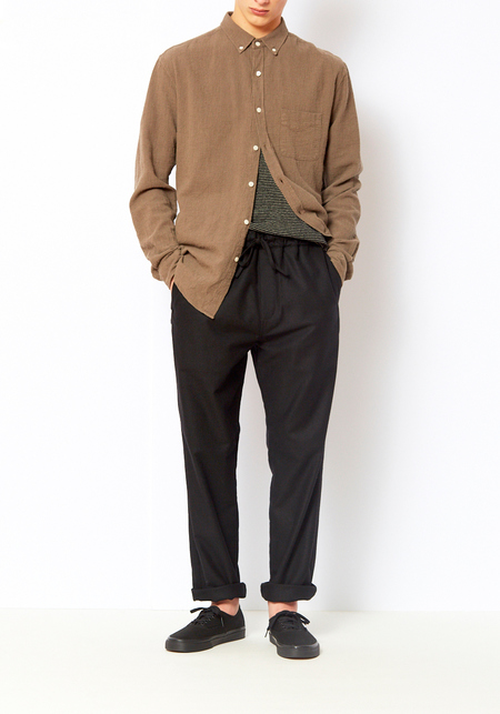 YMC Wool Alva Pant - Black