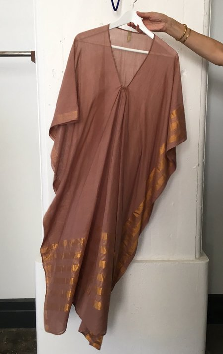 Two Buff and Metallic Caftan