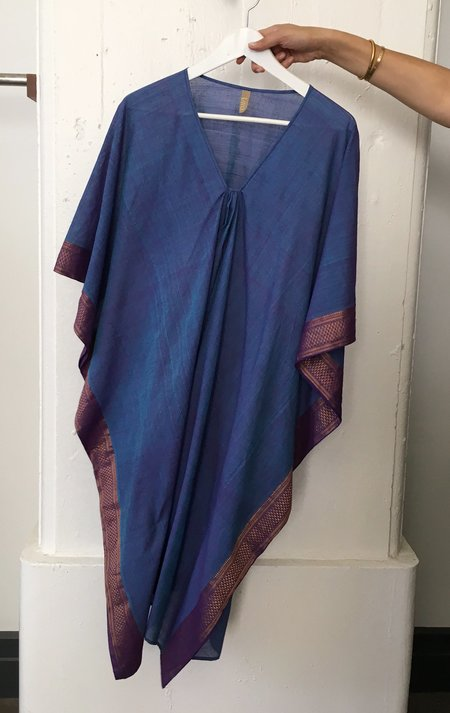 Two Blue Medium Length Caftan