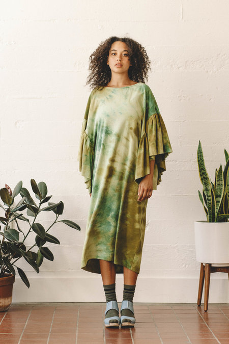 Kate Towers Oyster Dress - Earthy Greens
