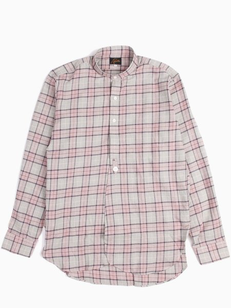 Needles Banded Collar EDW Shirt - Wool Plaid Twill