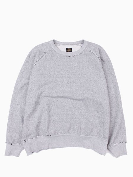 Needles Hand Stitched Sweatshirt Cotton Pile Lining - Grey