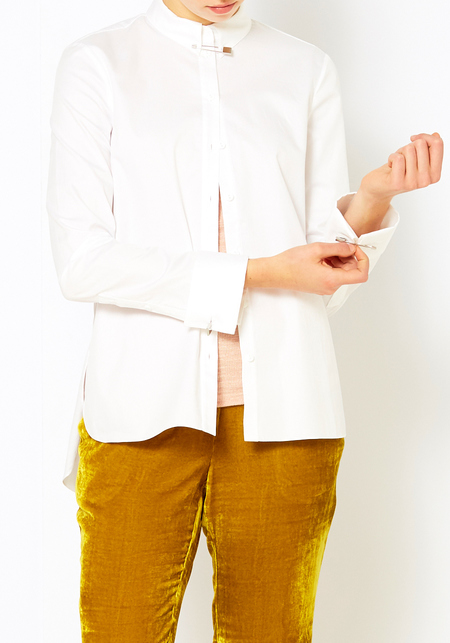 Tibi Pin Shirting Top