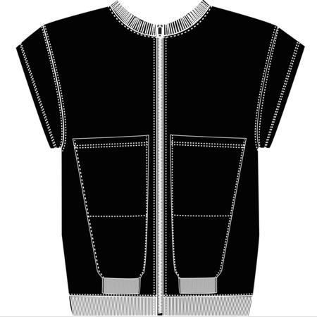 Slow and Steady Wins the Race Zipper Vest - Black