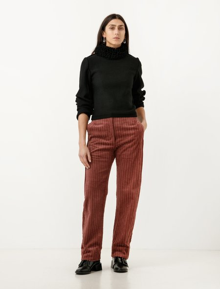 Lemaire Loose Pants Corduroy - Rosewood